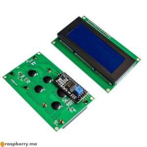 Afficheur LCD 2004 avec I2C et rétroéclairage bleu 1