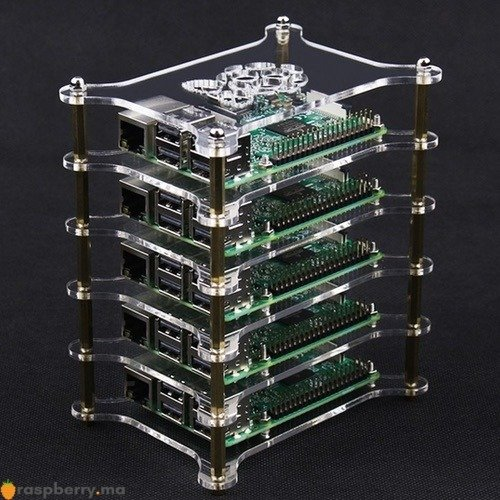 Boîtier transparent 5 niveaux pour Raspberry Pi 2