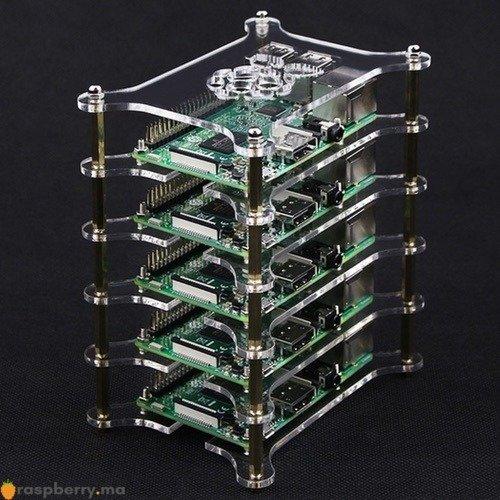 Boîtier transparent 5 niveaux pour Raspberry Pi 3