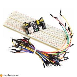 Carte de prototypage 830 points Module dalimentation MB 102 65 fils
