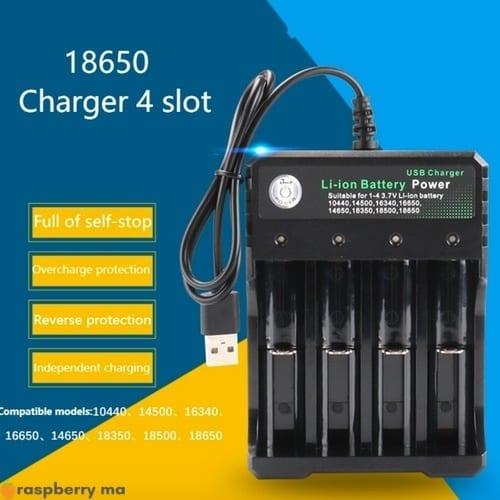 Chargeur batterie Li ion USB 3