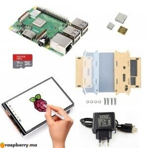 Kit-raspberry-pi-3-b-plus-avec-ecran-LCD-et-boitier-transparent