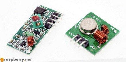 Paire RF émetteur récepteur 433 MHZ
