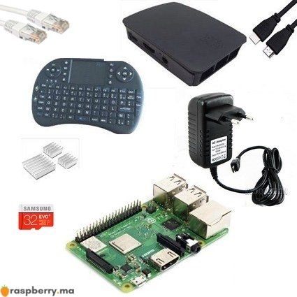 kit complet raspberry pi3 plus maroc 1