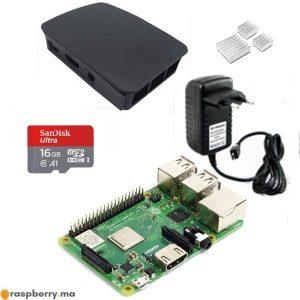 kit demarrage raspberry pi3 plus maroc