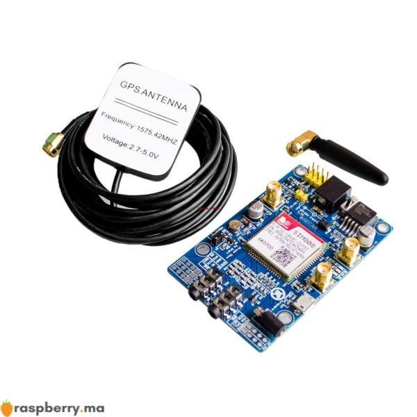 module gsm gprs gps pour raspberry pi avec support 2g 3g 4g sim card 1