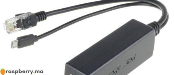 poe splitter micro usb power over ethernet 48v à 5v 2.4a pour raspberry pi 2