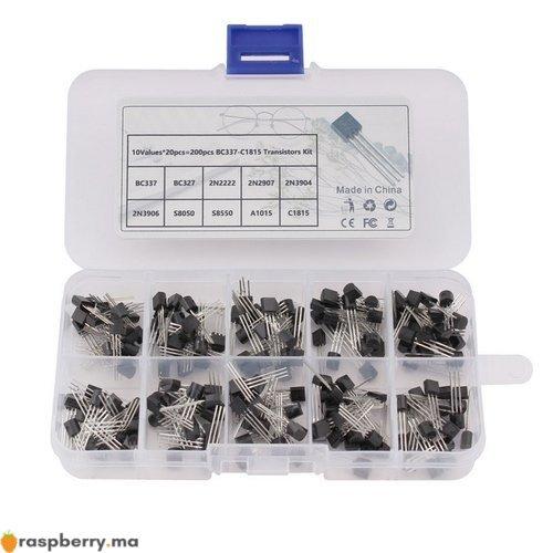 Kit 200 Transistors 10 références 1