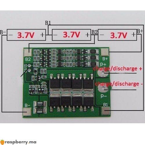 Carte de Protection de batterie Li ion 18650 3