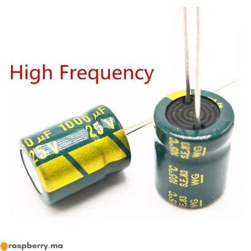 Condensateur électrolytique 25 V 1000 UF