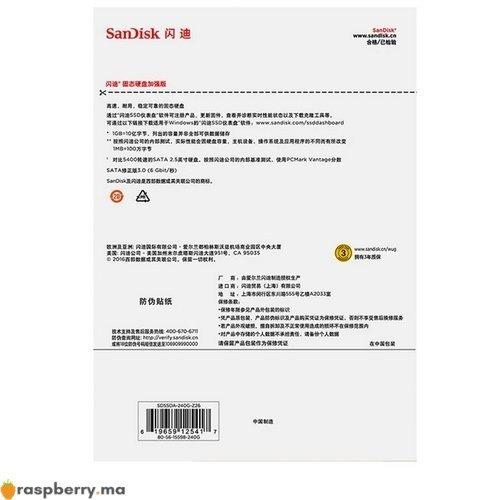 Disque dur SSD 120 GB Sandisk 3