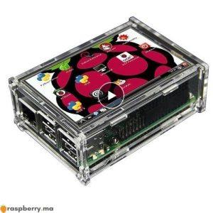 LCD 3.5 TFT Touch Screen pour Raspberry Pi avec Boitier Transparent 1