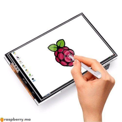 LCD 3.5 TFT Touch Screen pour Raspberry Pi avec Boitier Transparent 2