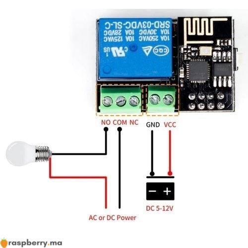 Module Relais WiFi ESP8266 2