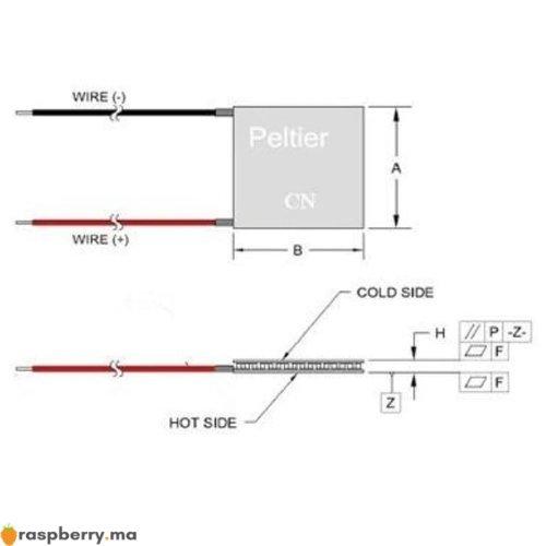 Refroidisseur thermoélectrique Peltier TEC1 12706 3