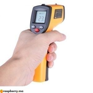 Thermomètre IR Laser numérique 50 380C 1
