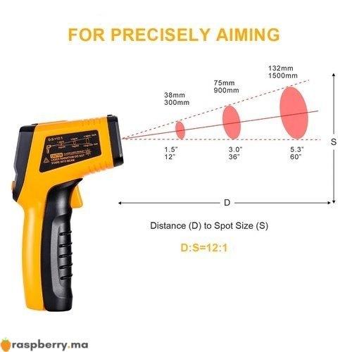 Thermomètre infrarouge IR numérique 50 400C 2