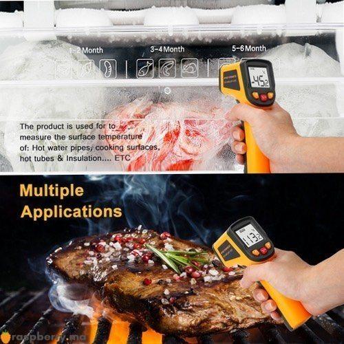 Thermomètre infrarouge IR numérique 50 400C 3