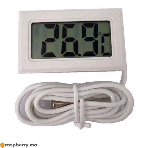 Thermomètre numérique 50 110°c avec sonde 1m Blanc