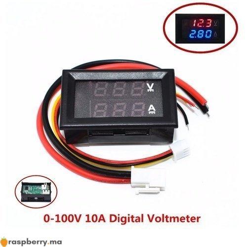 Voltmètre Ampèremètre numérique DC 1