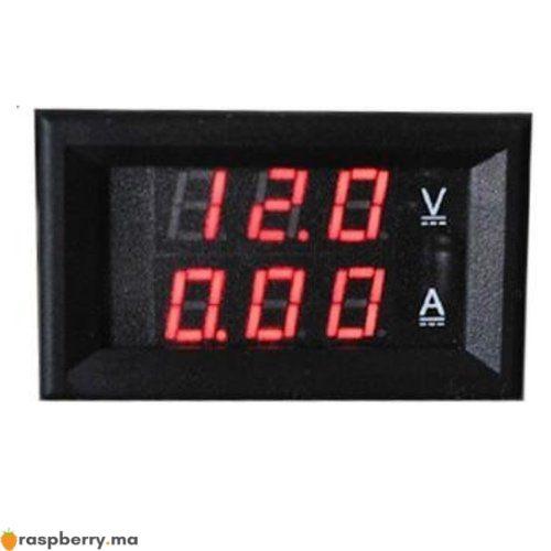 Voltmètre Ampèremètre numérique DC 4