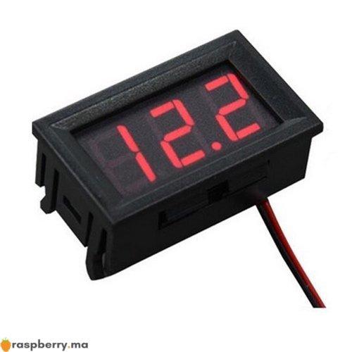 Voltmètre numérique 4.5 30V DC 1