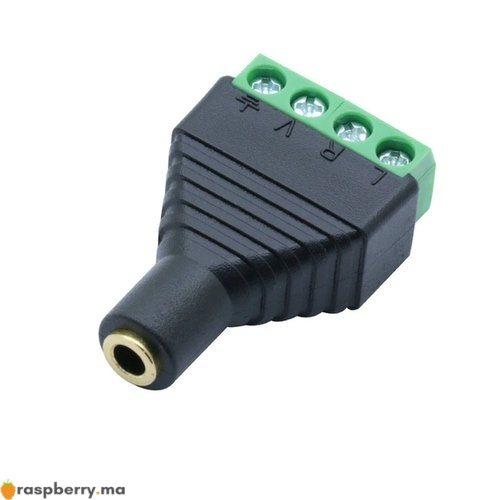 Connecteur Jack 3.5mm femelle avec bornes audio et vidéo 1
