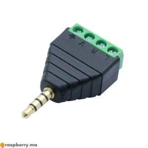 Connecteur Jack 3.5mm mâle avec bornes audio et vidéo 1