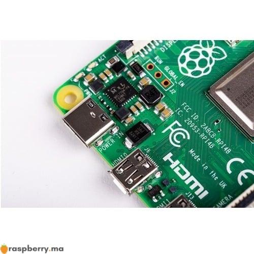 Port usb type C du raspberry pi raspberry.ma