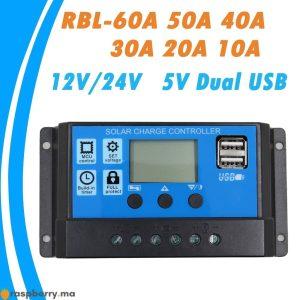24V-12V-Auto-panneau-solaire-contr-leur-de-Charge-de-batterie-60A-50A-40A-30A-20A