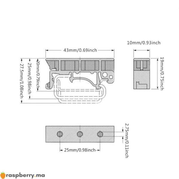 Agrafes-de-support-de-support-de-support-de-carte-de-Circuit-imprim-d-adaptateur-de-montage-5