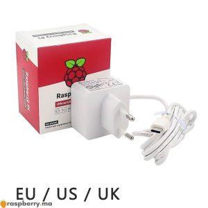 Alimentation-d-origine-Raspberry-Pi-4-officielle-USB-C-5-1V-3A-blanc-chargeur-secteur-adaptateur