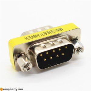 DB9-9Pin-m-le-m-le-Mini-adaptateur-changeur-de-sexe-RS232-connecteur-s-rie-femelle