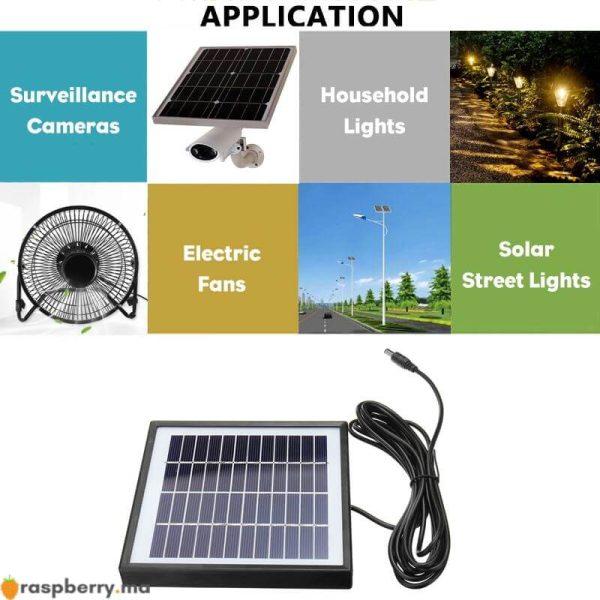 Ext-rieur-3-m-tres-c-ble-panneau-solaire-5W-12V-chargeur-solaire-Portable-chargeur-rapide-1