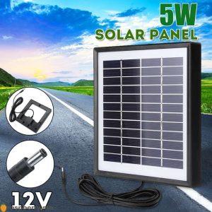 Ext-rieur-3-m-tres-c-ble-panneau-solaire-5W-12V-chargeur-solaire-Portable-chargeur-rapide