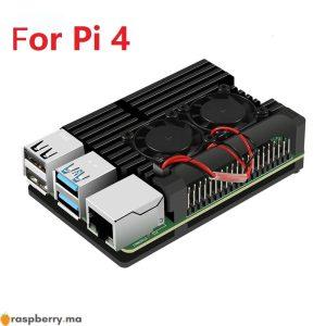 Framboise-Pi-4-4B-bo-tier-bo-tier-CNC-couvercle-en-aluminium-dissipateur-thermique-ventilateur-de
