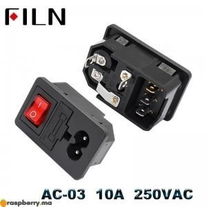 IEC320-C14-prise-lectrique-AC-3-broches-rouge-LED-250-V-interrupteur-bascule-10A-fusible-femelle