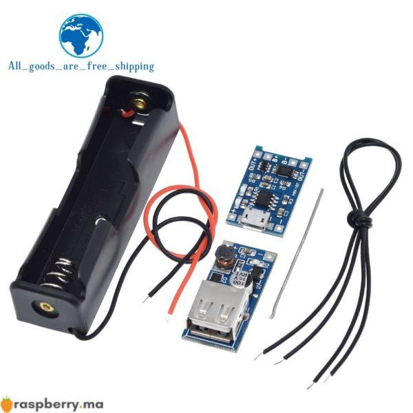 Kit-de-bricolage-Micro-USB-5V-1A-18650-TP4056-Module-de-chargeur-de-batterie-au-Lithium