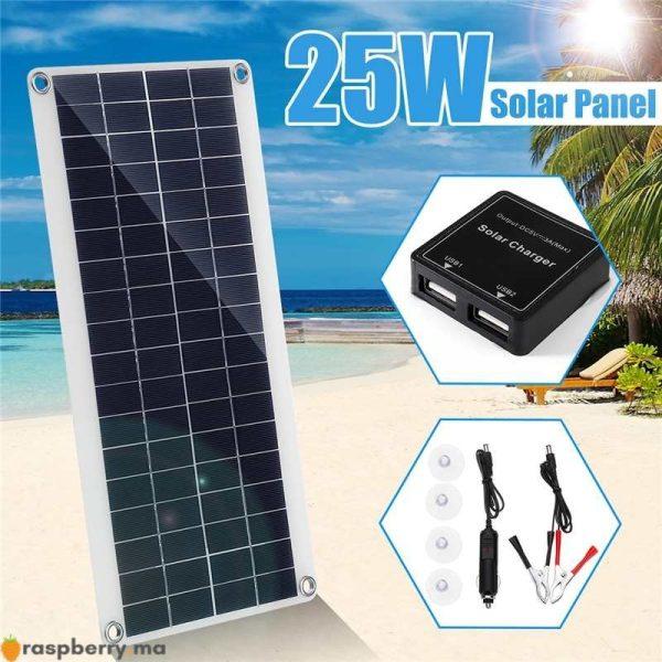 Portable-25W-12V-panneau-solaire-Double-USB-batterie-externe-conseil-batterie-externe-charge-solaire-panneau-de-1