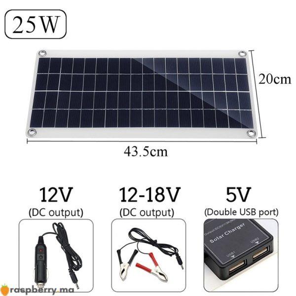 Portable-25W-12V-panneau-solaire-Double-USB-batterie-externe-conseil-batterie-externe-charge-solaire-panneau-de-2