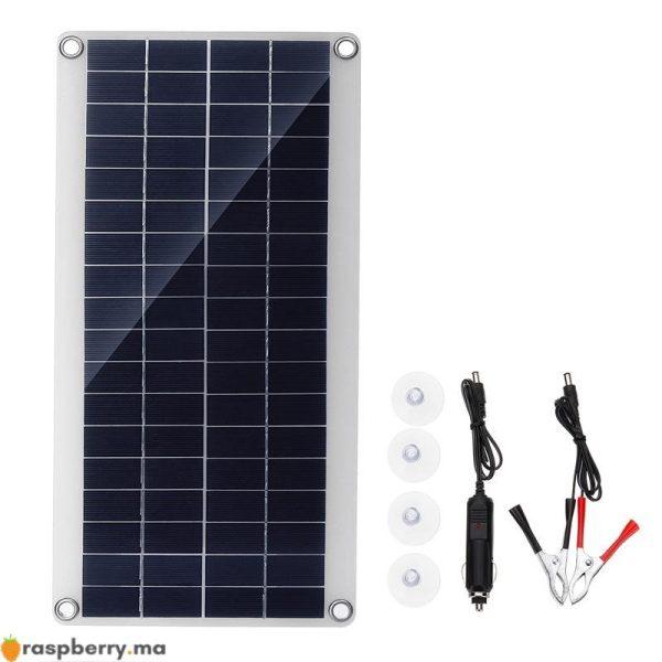 Portable-25W-12V-panneau-solaire-Double-USB-batterie-externe-conseil-batterie-externe-charge-solaire-panneau-de-3