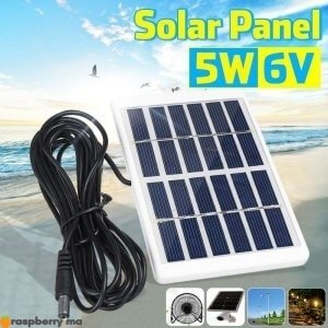 Portable-5W-6V-panneau-solaire-ext-rieur-chargeur-solaire-panneau-3-m-tres-c-ble-escalade