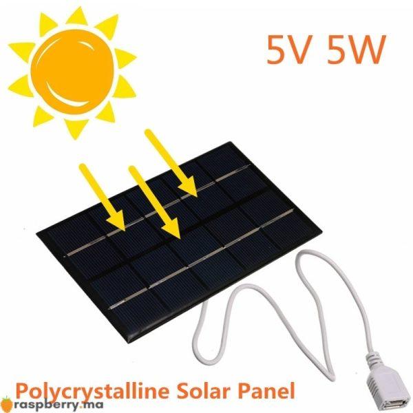 USB-panneau-solaire-ext-rieur-5W-5V-Portable-panneau-de-chargeur-solaire-escalade-chargeur-rapide-polysilicium