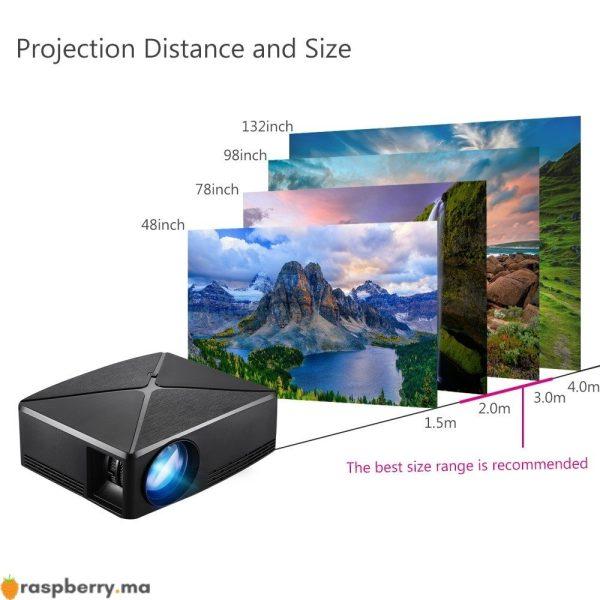 Vidéo Projecteur HD HDMI C80