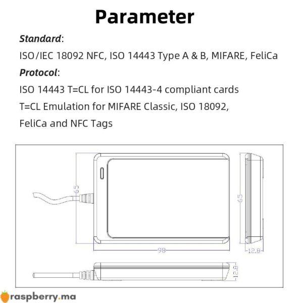 Kit Lecteur NFC USB ACR122U